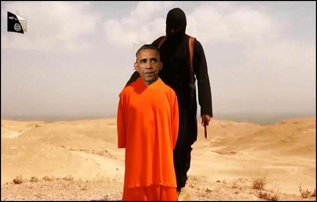 ISIS Beheading Obama 1 (resized)