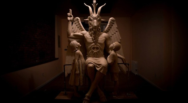 """The Satanic Temple is set to unveil its...monument in Detroit."" (AP/CBS Detroit)"