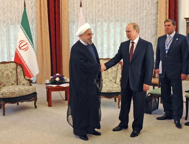 Russian President Vladimir Putin and Iranian President Hassan Rouhani.