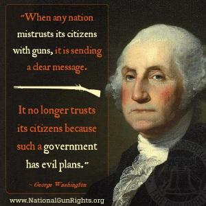 George Washington on guns
