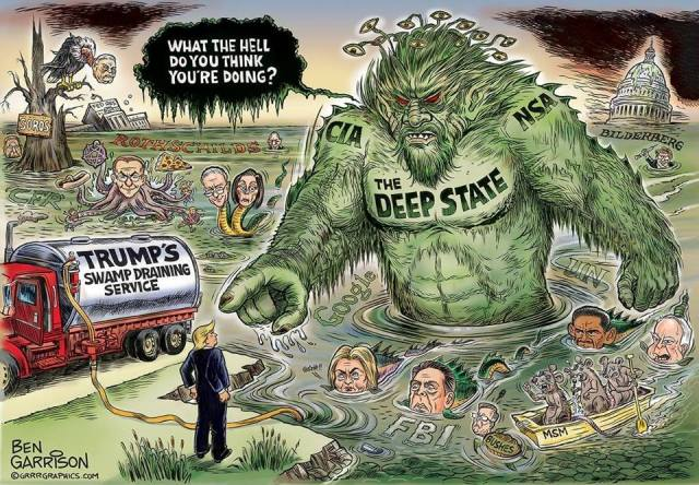 TRUMP VS THE CROOKED CLINTON'S AND DRAINING THE SWAMP